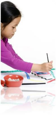 Advertising Title Graphic - picture of young girl drawing